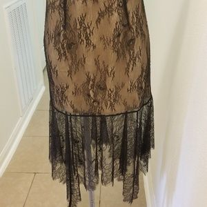 Keeps 8 the label black lace skirt S NWT BOTTOM $